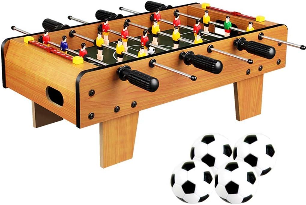 Futbolines Los niños futbolín/fútbol/foozeballs Bolas de Mesa/futbolín/Seis Barra de futbolín de Mesa/con Patas de la Mesa (Color : Wood Color, Size : 50 * 45 * 18cm): Amazon.es: Hogar