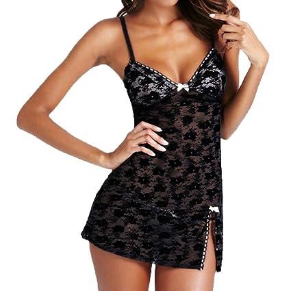 Mujer Sexy Ropa Sleepwear Dress Babydoll Set Lencería Teddy, yesmile Babydoll de Encaje Lace Lencería
