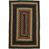 homespice decor braided oval area rug 4x6 blue red artemis collection - Homespice Decor