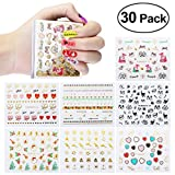 Nail Stickers, ETEREAUTY Nail Art Stickers Decals New DIY Nail Design 3D Sticker 30 Sheets