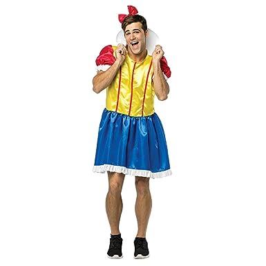 New Mens Bro White Princess Stag Do Fancy Dress Costume   One Size:  Amazon.co.uk: Clothing