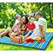 Vancle Picnic Blanket,Waterproof Foldable Beach Camping Outdoor Blanket Mat with Strap (59\