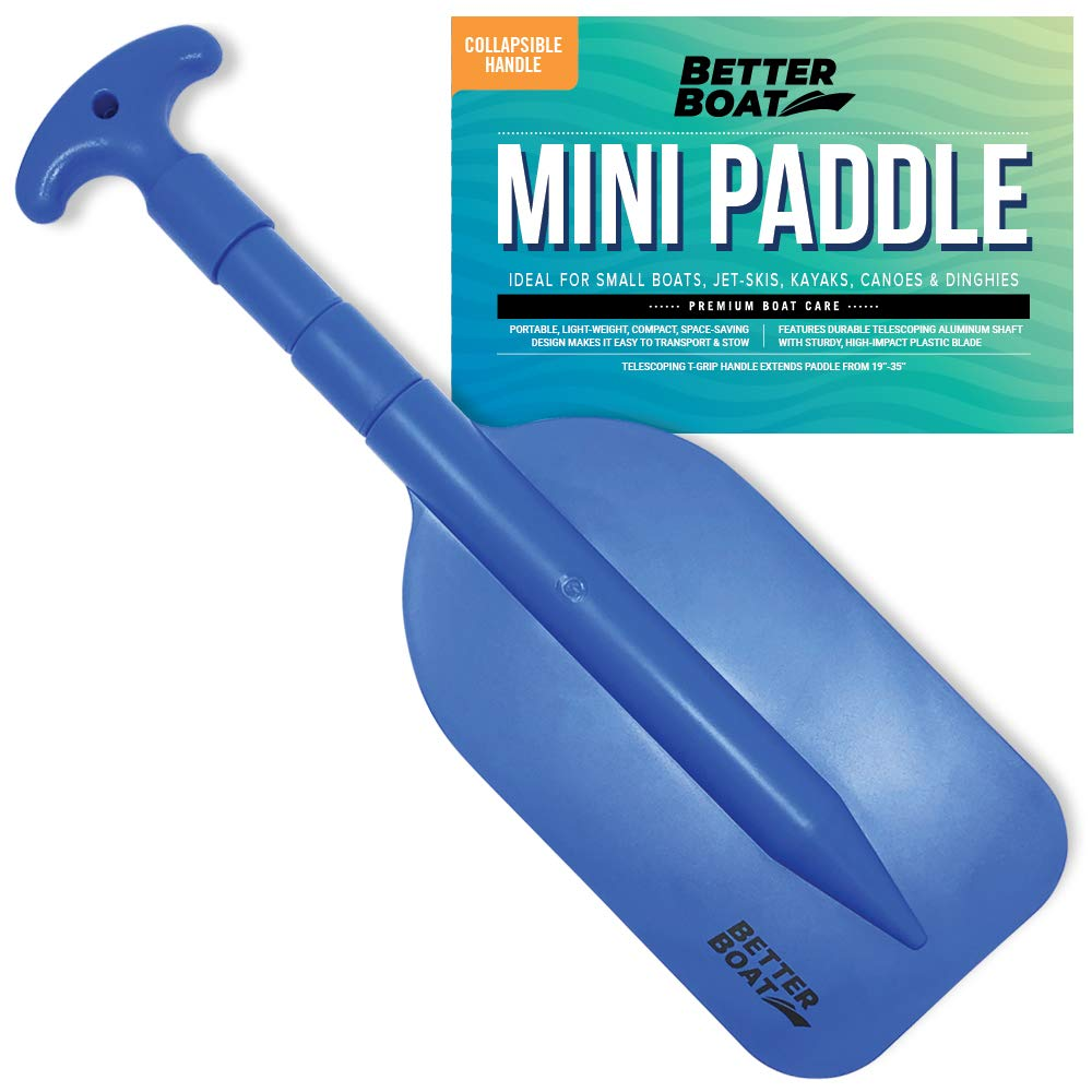 Telescoping Plastic Boat Paddle Collapsible Oar Kayak Jet Ski and Canoe | Paddles Small Safety Boat Accessories by Better Boat