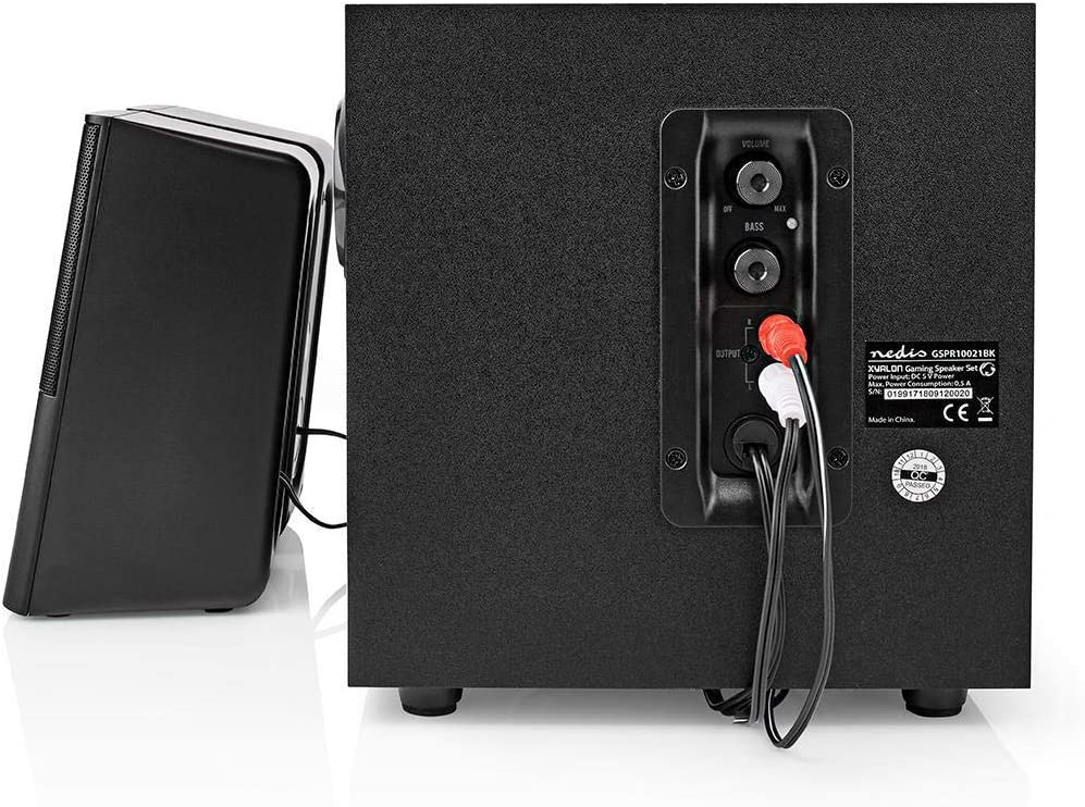 Combusters USB Lautsprecher 2.1 Box Boxen Pc Laptop System mit Holz Subwoofer kompatibel mit f/ür Notebook Computer Tower Smartphone Handy MP3 MP4 Lautst/ärkeregler Bass Regler 3,5mm Klinke Audio