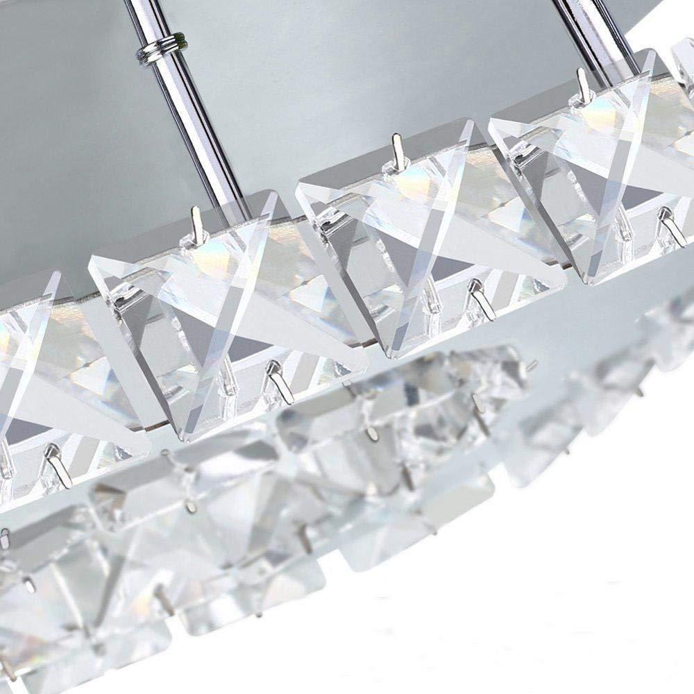 le salon et le couloir Les plafonniers modernes de LED allument l/éclairage blanc froid de lustre de cristal affleurant 12W 6000K pour la chambre /à coucher