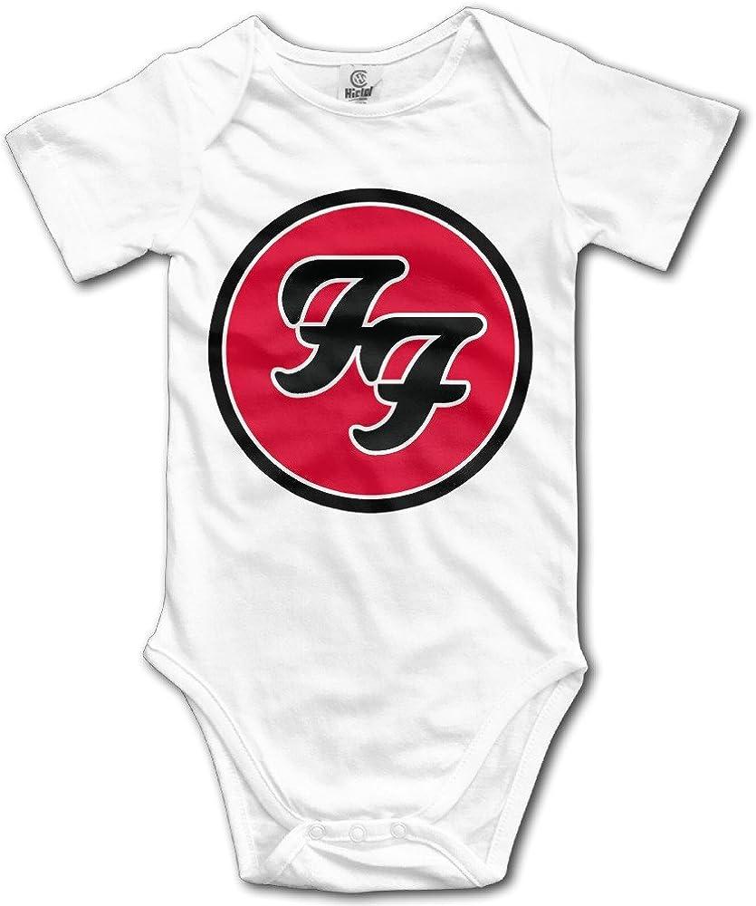 Foo Fighters Funny Short Sleeves Variety Baby Onesies Bodysuit For Toddler