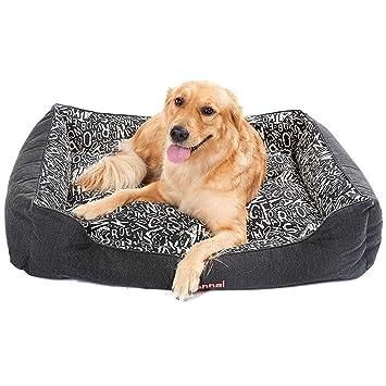 Cama para Perros, Cama ortopédica para Perros Mascotas para Perros medianos y Grandes, colchón de Doble Cara, removible y Lavable (Tamaño : XL 95×70cm): ...