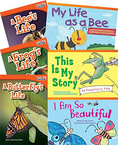 Teacher Created Materials - Classroom Library Collections: Life Cycles - 6 Book Set - Grade 1 - Guided Reading Level E