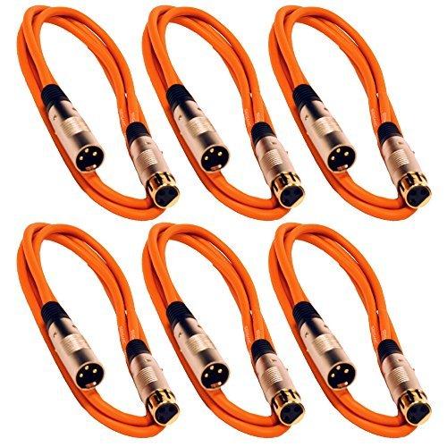 Seismic Audio SAPGX-6Orange-6 Pack 6' 6' Balanced Gold Plated Orange Pack XLR Mic Microphone Patch Cable Cord Balanced 6 Pack [並行輸入品] B07DZHY397, ホビーショップB-SIDE:0664a10c --- itxassou.fr