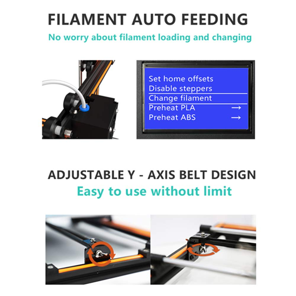 2020 Anet upgraded E16,ET4,ET5 integrated desktop FDM metal 3D Printer Kits with large 12864 LCD screen and large bulid volume 300x300x400mm