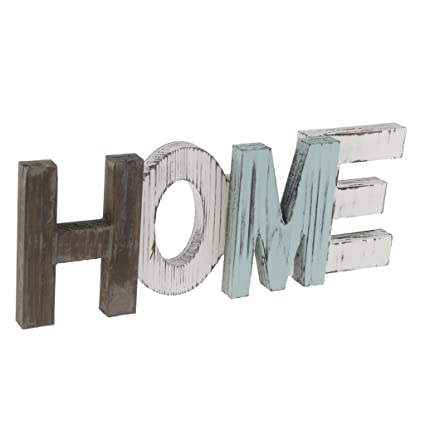 Buy Phenovo Wooden Home Decorative Sign Standing Cutout Word