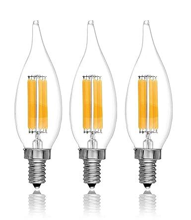 Led Dimmable Flame Tip Candelabra Led Bulbs Ul Listed 2 Year Warranty 60 Watt 550 Lumen E12 Led Bulb Base 4000k Daylight Led Candelabra