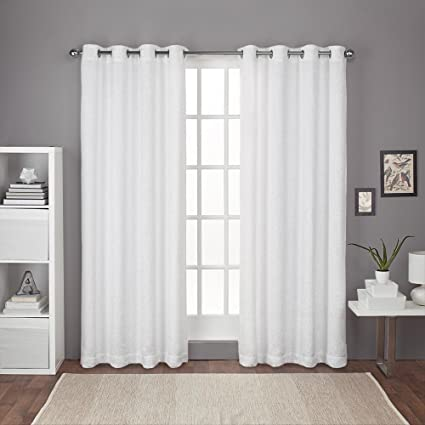 Exclusive Home Curtains Criss Cross Chenille Eyelash Room Darkening Grommet Top Window Curtain Panel Pair