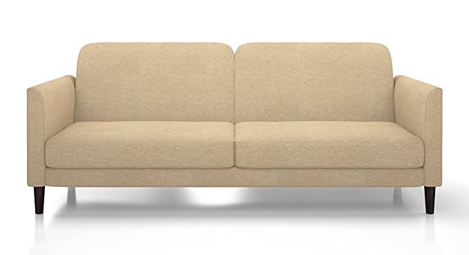 Urban Ladder Felicity Fold Out Three Seater Fabric Sofa Cum Bed (Cream)