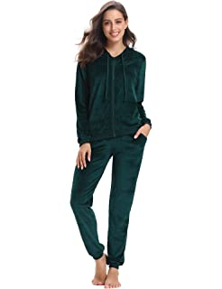 3348a51f4d Ally's New Women Velour Hoodie Track Suit Jacket Sweat Pants Set ...
