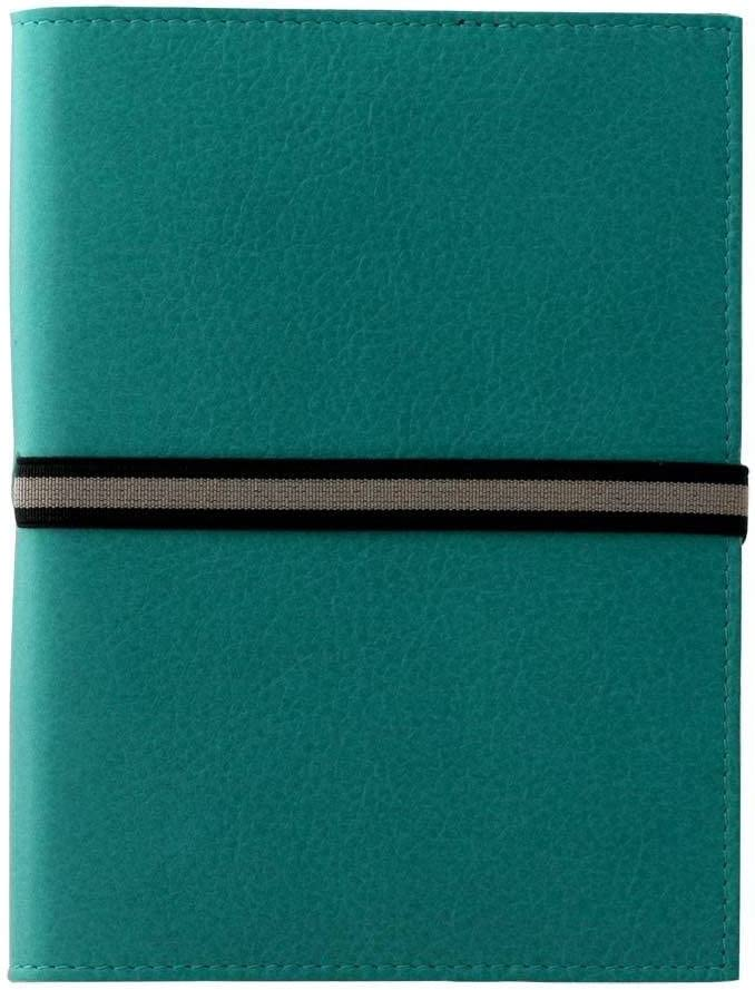 Amazon Com Coles Abruzzi Medium Leather Journal With Black And Stone Tie Turquoise Coles Computers Accessories