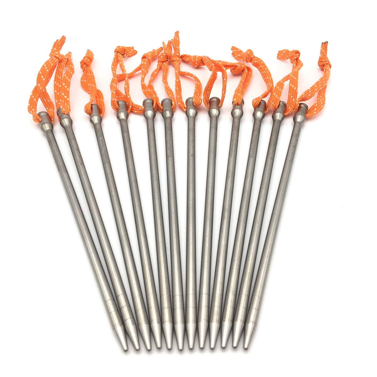 ZEARE Titanium Tent Stakes Ultra Light Titanium Alloy Tent Pegs Outdoor Camping Accessories (12 PCS) by ZEARE