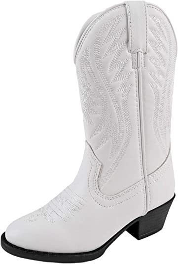 Smoky Mountain Childrens Mesquite Western Boot White