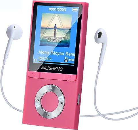 Radio Blau Entspannen usw 1,8  tragbarem Musik Player unterst/ützt 32G Speicherkarte E-Book usw Video Musik Geeignet zum Joggen Aufnahme Hakeeta Bluetooth MP3 // MP4 Player mit Kopfh/örern