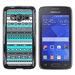 Exotic-Star ( Pattern Teal Blue Native American ) Fundas Cover Cubre Hard Case Cover para Samsung Galaxy Ace4 / Galaxy Ace 4 LTE / SM-G313F