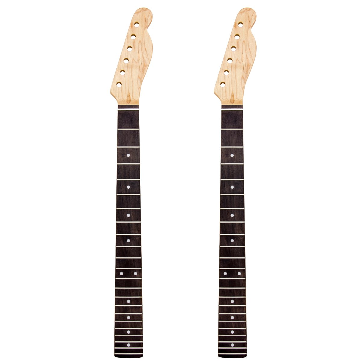 2pcs Matt Electric Guitar Neck 22 Frets Rosewood Fretboard Replacement