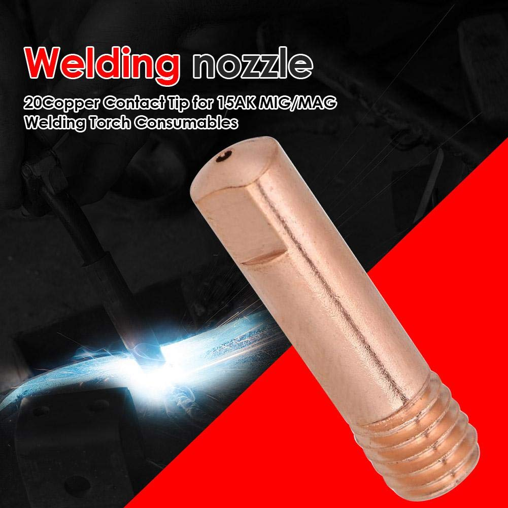 0.8 hullonguuo 20 X Welding Nozzles 20pcs MIG Welding Nozzle Contact Tips Gas Diffuser Connector Holder