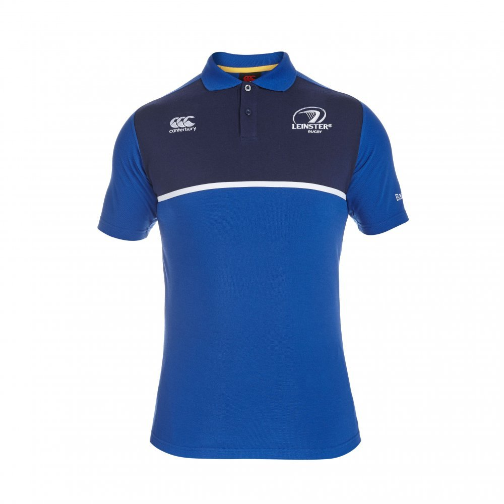 2015-2016 Leinster Rugby Cotton Training Polo Shirt (Blue): Amazon ...