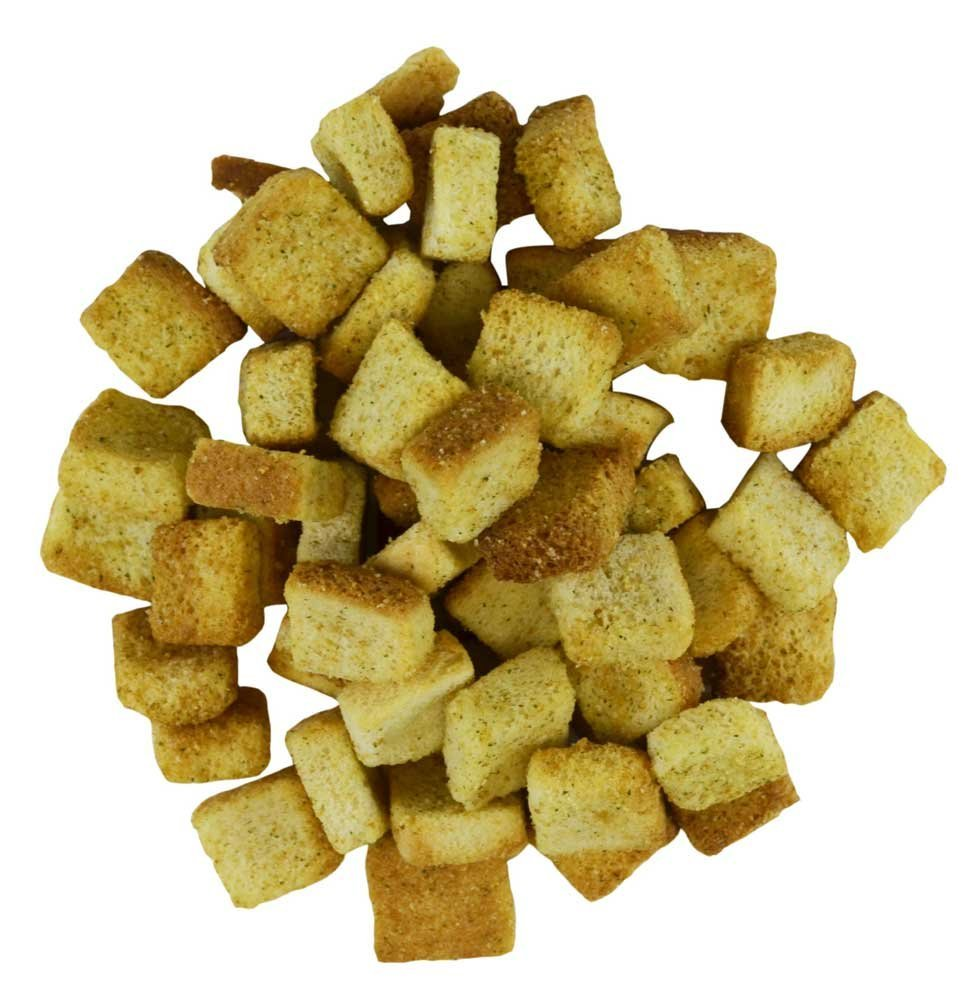 Fresh Gourmet Butter and Garlic Crouton, 2.5 Pound - 4 per case.