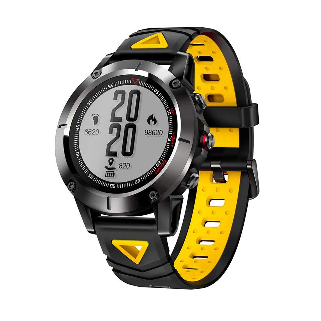 JingJingQismart - Reloj Inteligente GPS para Hombre, Resistente al ...