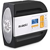 SUAOKI 12V Compresor de Aire Auto Compresor, neumáticos Inflador Dispositivo con Pantalla Digital, portátil Neumáticos Bomba Bomba de Aire con Encendedor de Conector Negro
