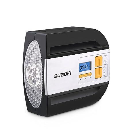SUAOKI 12 V Compresor de Aire Auto Compresor, neumáticos Inflador Dispositivo con Pantalla Digital,