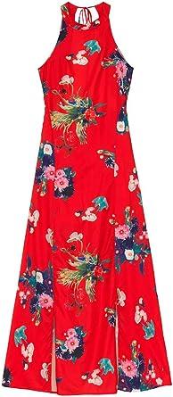 Molly Bracken Robe Longue Imprimee Couleur Rouge Taille M Amazon Fr Vetements Et Accessoires