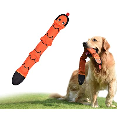 PetLike Squeaky Dog Toy, Snake Chew Toy for Large Medium Small Dogs, Interactive Durable Dog Toy, 3 Squeakers Inside: Pet Supplies