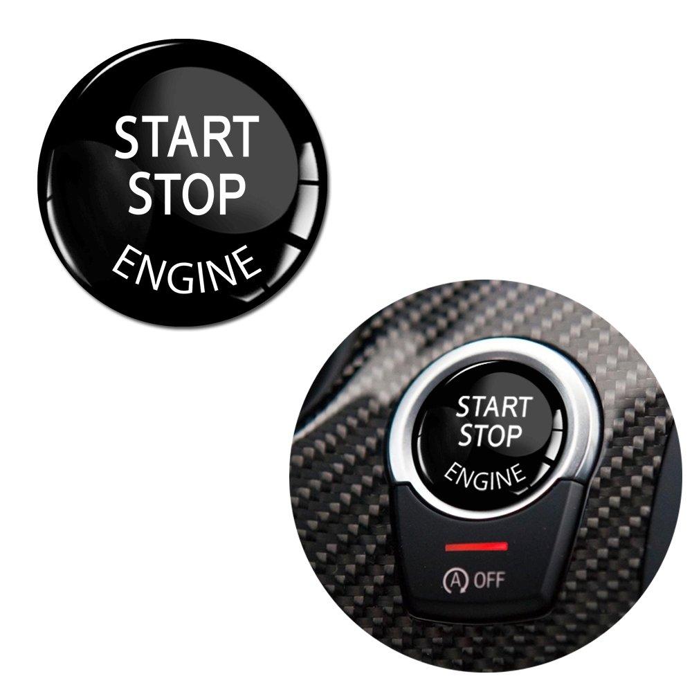 Skino 1 x Adesivo Silicone 3D Gel Sticker Start Stop Engine Chiave Nero Diametro 37mm Autoadesivo Auto Moto Accessori Tuning KS 31