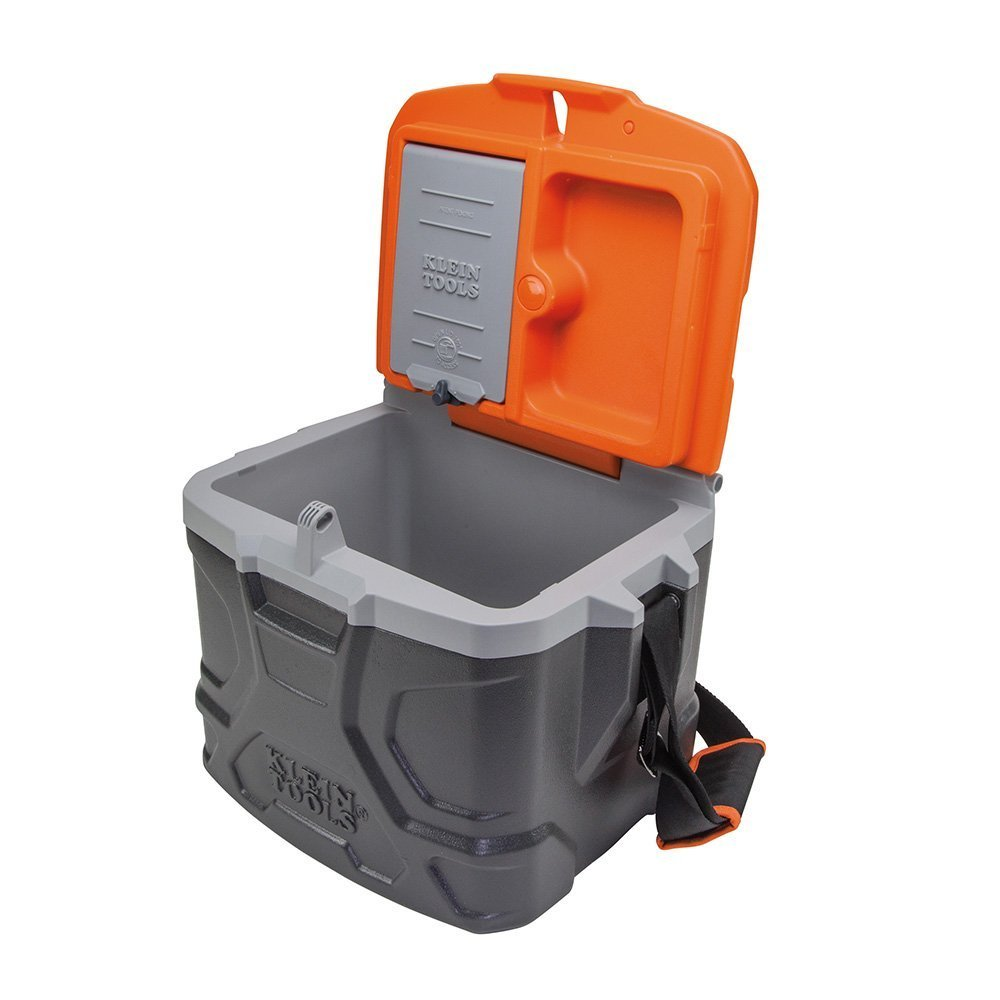 Work Cooler 17-Quart, Keep Cool 30 Hours, Seats 300 Pounds, Tradesman Pro Tough Box Klein Tools 55600 by Klein Tools (Image #3)