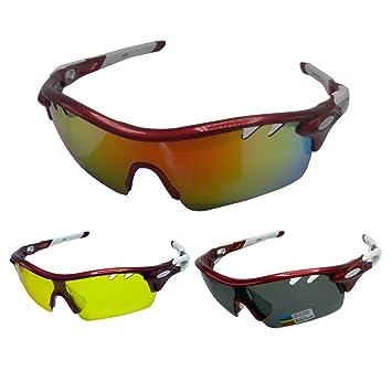 foritone luxplus polarizadas Deportes Gafas de sol con 3 lentes intercambiables para hombres mujeres voleibol de