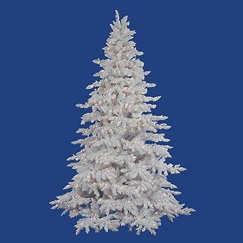 flocked white spruce full pre lit christmas tree - White Pre Lit Christmas Trees
