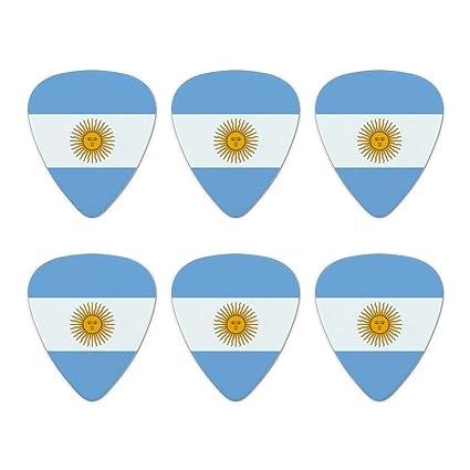 Argentina bandera de país – púas de guitarra de calibre mediano diseño de juego de 6