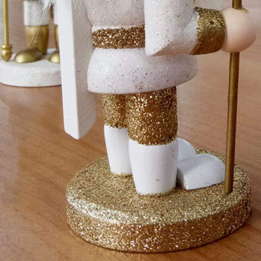 15CM King Soldier Shaped Nutcracker Doll Desktop Decoration Ornaments Brithday Gift for Boys and Girls AL Younar Wooden Nutcracker Puppet