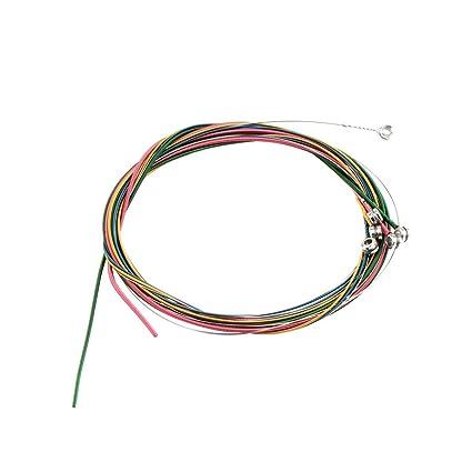 Egdae - Set de guitarra acústica (varios colores 1-6, aleación de ...