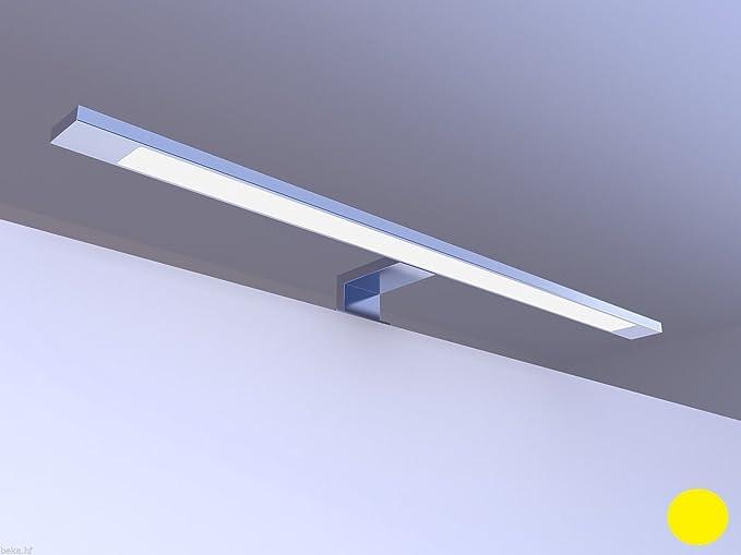 Lampada a LED per specchio bagno, finitura cromata, luce bianca ...