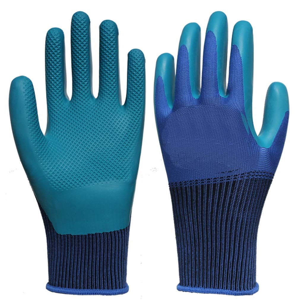 AINIYF Industrial Gloves Shrink Resistant Improved Dexterity Tough Stretchable Work GlovesCoated Gardening Gloves(12 Pairs Per Pack)