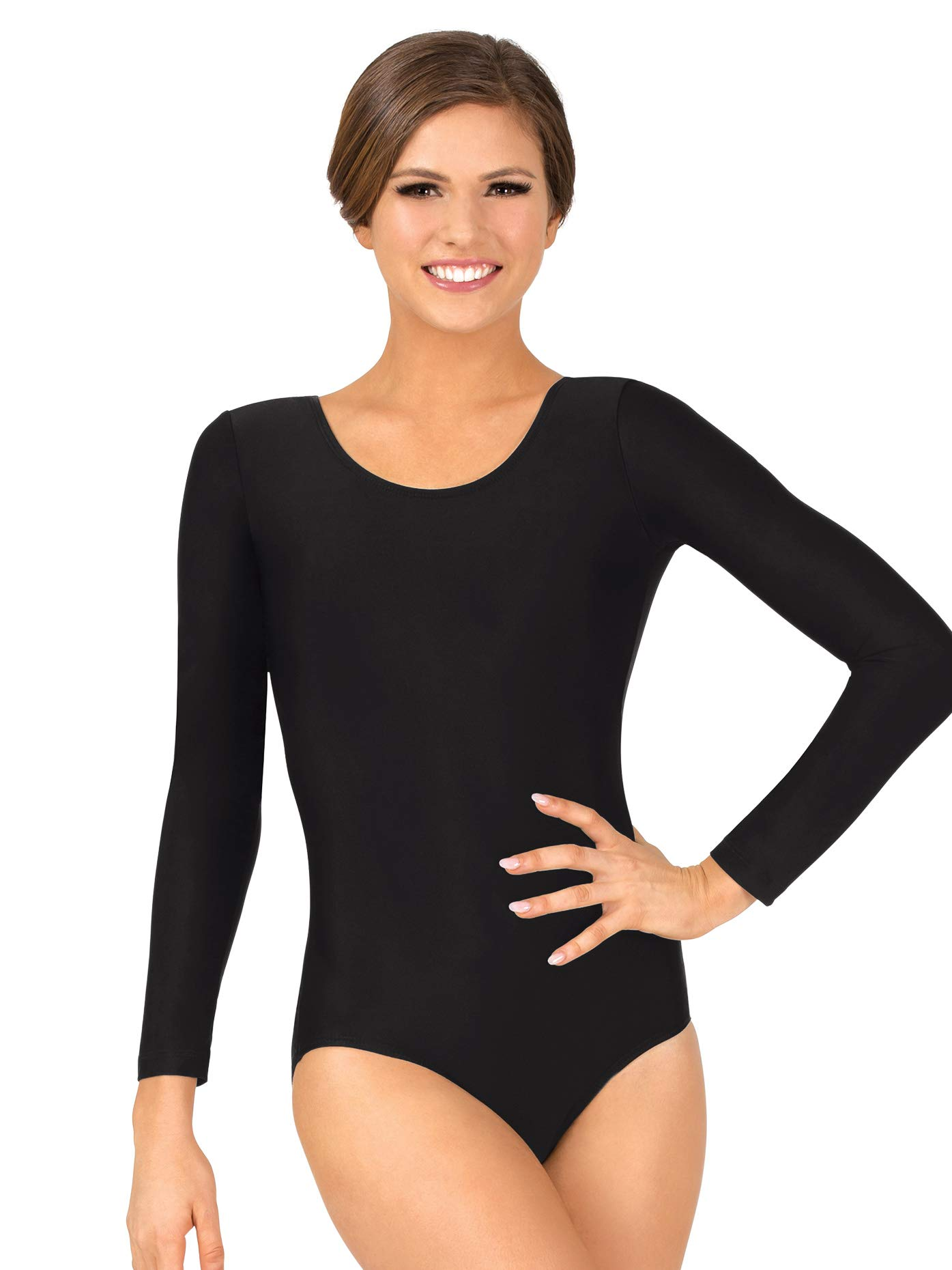 Adult Long Sleeve Dance Leotard D5103REDXL Red XL by Theatricals