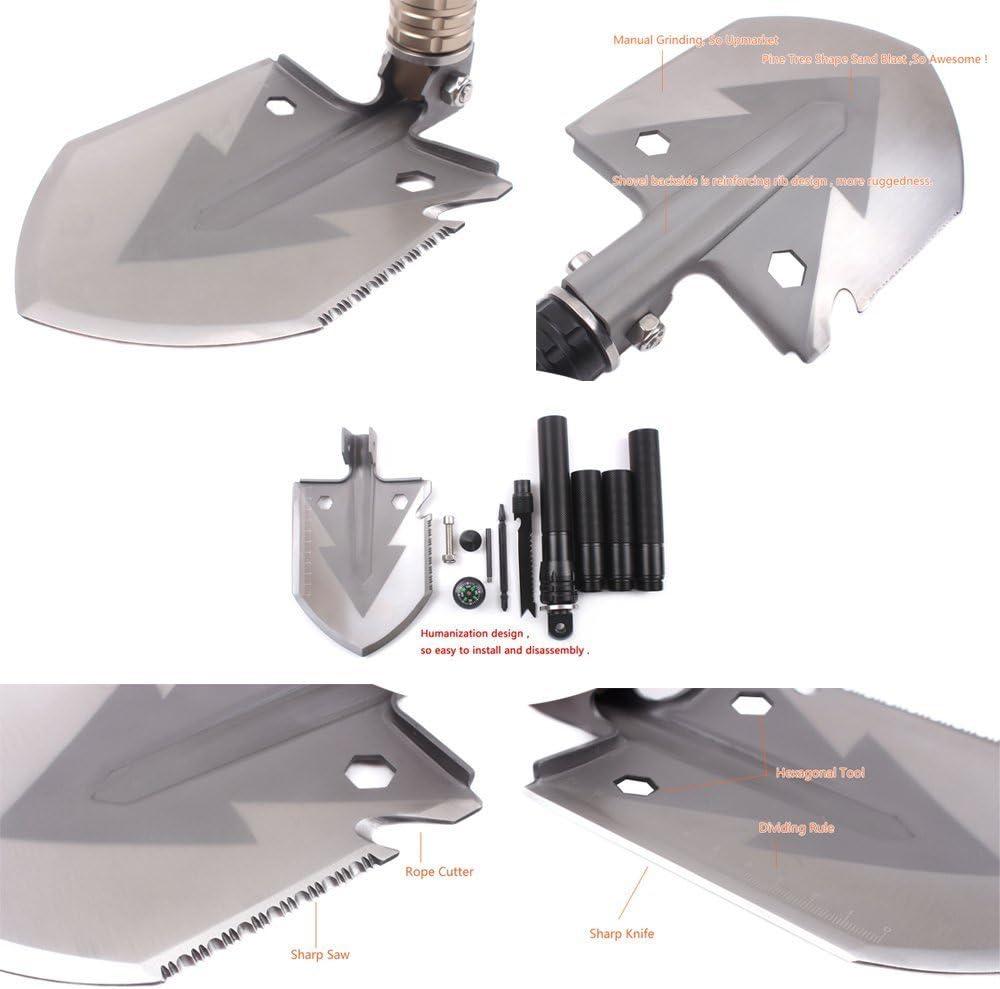 Entrenching Tool Portable forCamping,CarEmergency,Backpacking,Outdoor,Hiking,Gardening and Trenching MIONI Multifunctional folding shovel Military Folding Survival Shovel,Camping Shovel