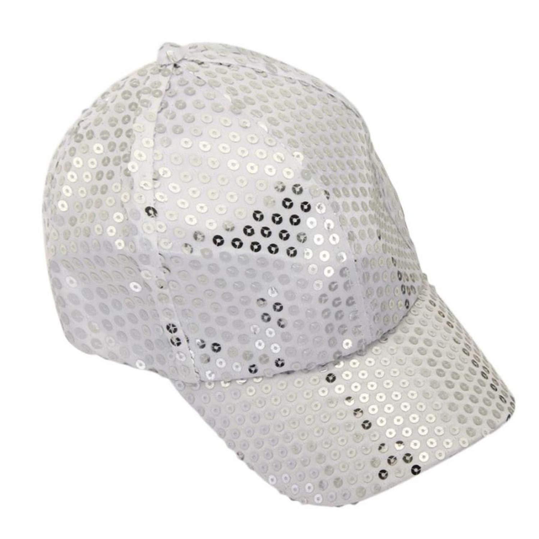 Wension Autumn Summr Sequin Bling Baseball Cap Kids Girls Snapback Hats Cap for Children Boys Girls
