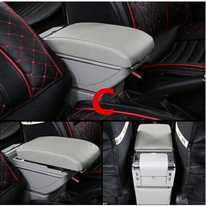 SBCX Caja del reposabrazos del Coche, para Volkswagen Passat Bora Jetta Golf 3 4 5 Caja de Almacenamiento del reposabrazos del Coche Caddy Consola Central portavasos de Cuero Estilo del Coche: Amazon.es: