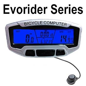 Ordenador de bicicleta, gaddrt inalámbrica ciclo computadora impermeable grande LCD Backlight Sensor de movimiento al