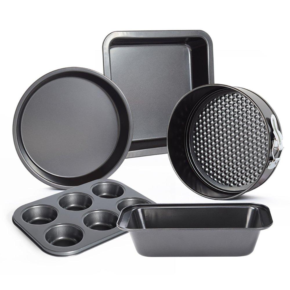 Amazon.com: Cupcake Chocolate Pizza Craft Candy Baking Mold Pan Toast Box Kitchen Pastry Bread Oven Baking Roasting Pan Tin Trays, Set of 5: Kitchen & ...