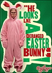 """Ata-Boy A Christmas Story 'Deranged Easter Bunny' 2.5"""" x 3.5"""" Magnet for Refrigerators and Lockers"""