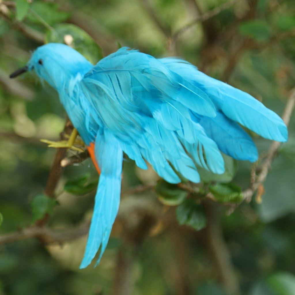 oiseau artificiel moineau à plumes avec des ailes ouvertes maison jardin
